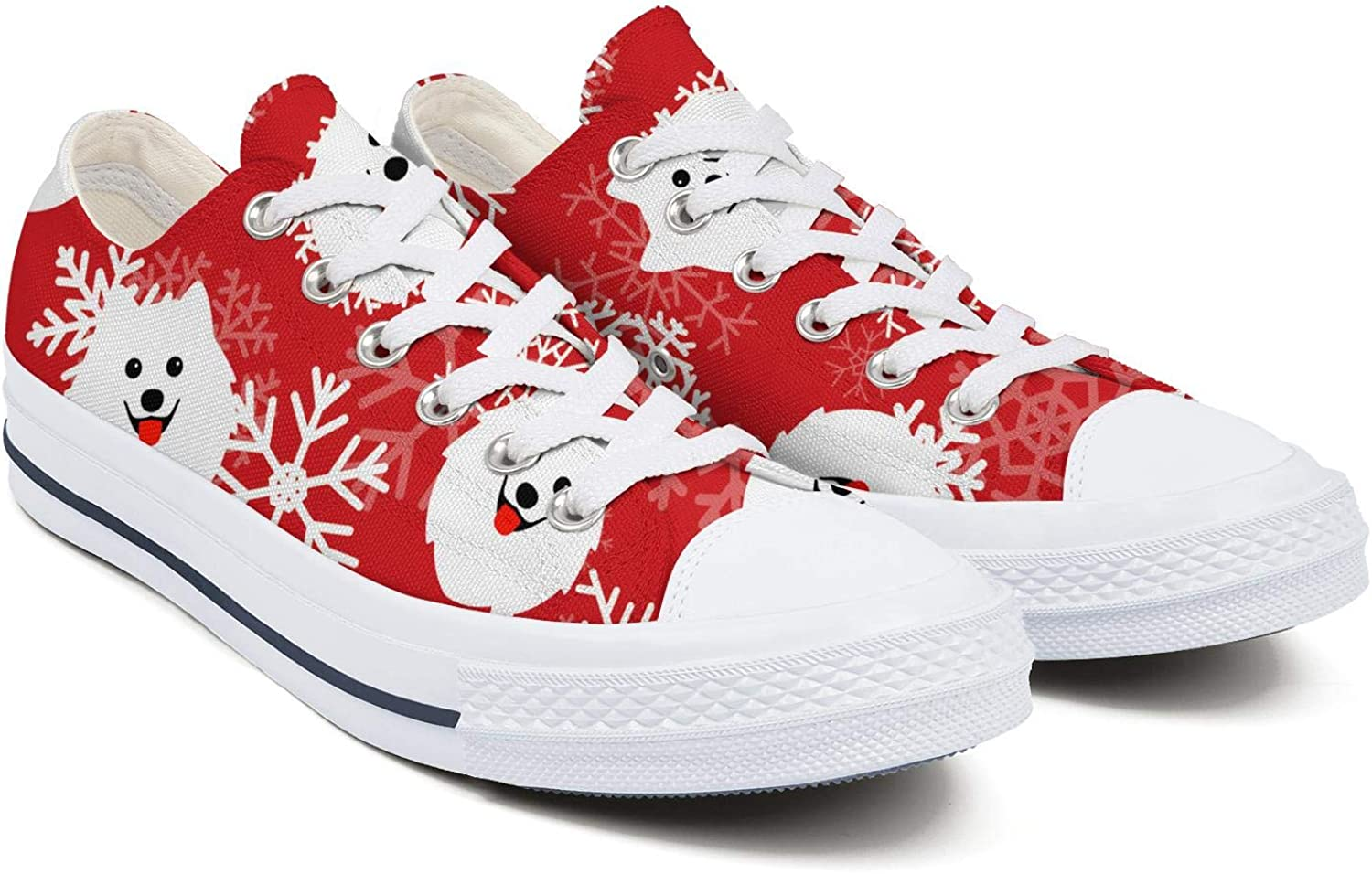 Canvas High Top Sneaker Casual Skate Shoe Mens Womens Dog Happy with Bones