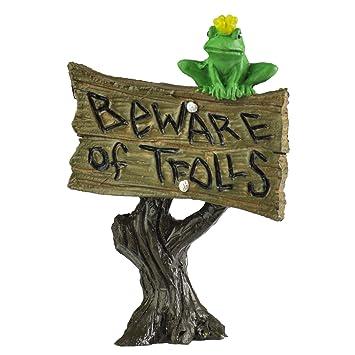 Georgetown Home U0026 Garden Miniature Frog Sign U0026quot;Beware Of Trolls ...