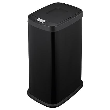 Mari Home Negro 38 L Cubo de basura touch bin de acero Basurero reciclaje