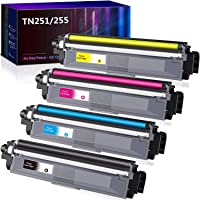 4 Pack Compatible TN251 TN255 Toner Cartridge for Brother HL3170CDW MFC9330CDW MFC9340CDW MFC9140CDN MFC9335CDW(1BK,1M…