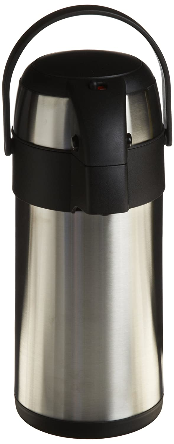 Genuine Joe GJO11961 Stainless Steel High Capacity Vacuum Airpot with Removable Lid, 3L Capacity