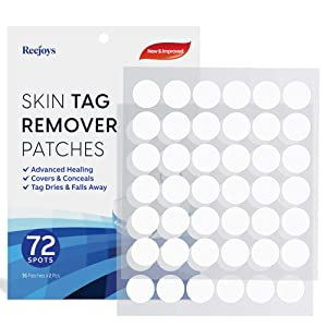 Skin Tag Remover Patches (72 Pcs), New and Improved Formula Skin Tag Removal, Skin Tags Dry and Fall Away, Safe and Effective