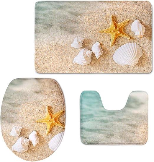 Nautical Anchor Beach Sea Starfish Non Slip Carpet Bath Mat Shower Rug Door Mat