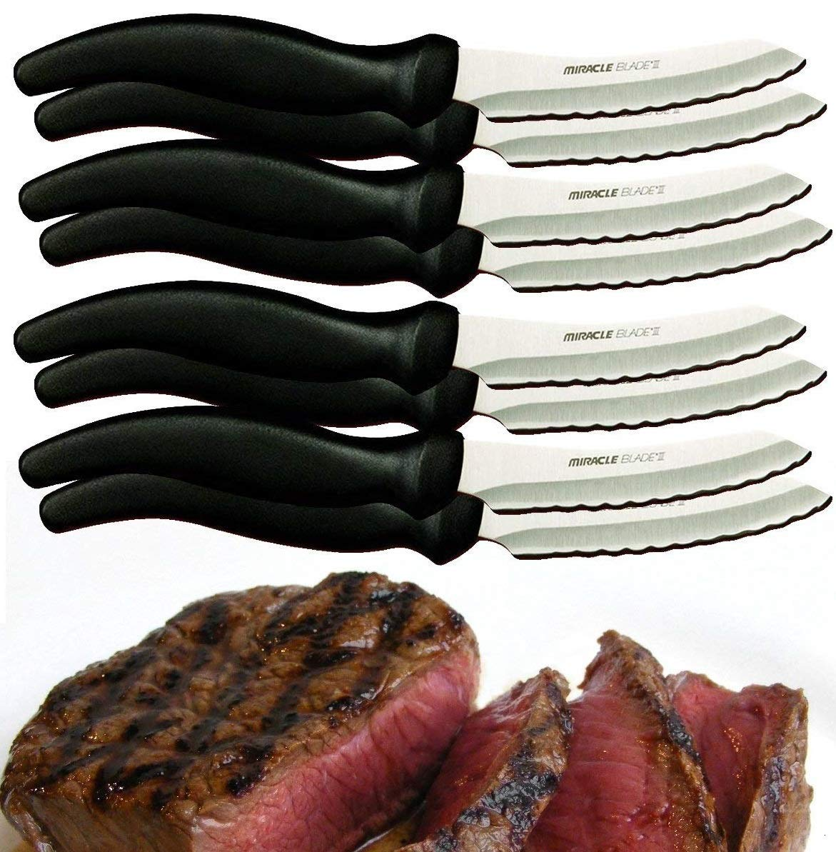 Miracle Blade III Perfection Series 8 Piece Steak Knife Set