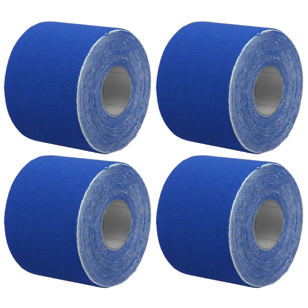 GouGou 4 Rolls Kinesiology Sports Tape 2 in x 5.5 yd Therapeutic Muscle Tape Elastic Adhesive for Knee Shoulder Elbow and Muscle Injury Prevention (Dark blue)