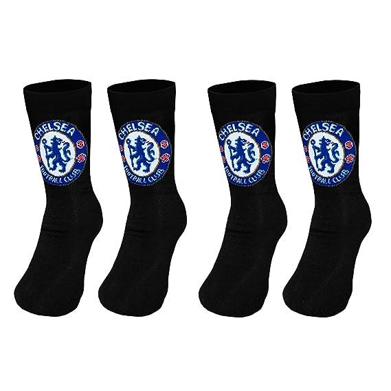 Chelsea FC - Pack de 2 pares de calcetines oficiales - Para niño - 12.5 -  3  Amazon.es  Ropa y accesorios e96992ddcea