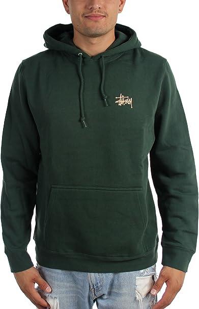Stussy - Sudadera con capucha - para hombre verde pino S : Amazon.es: Ropa y accesorios