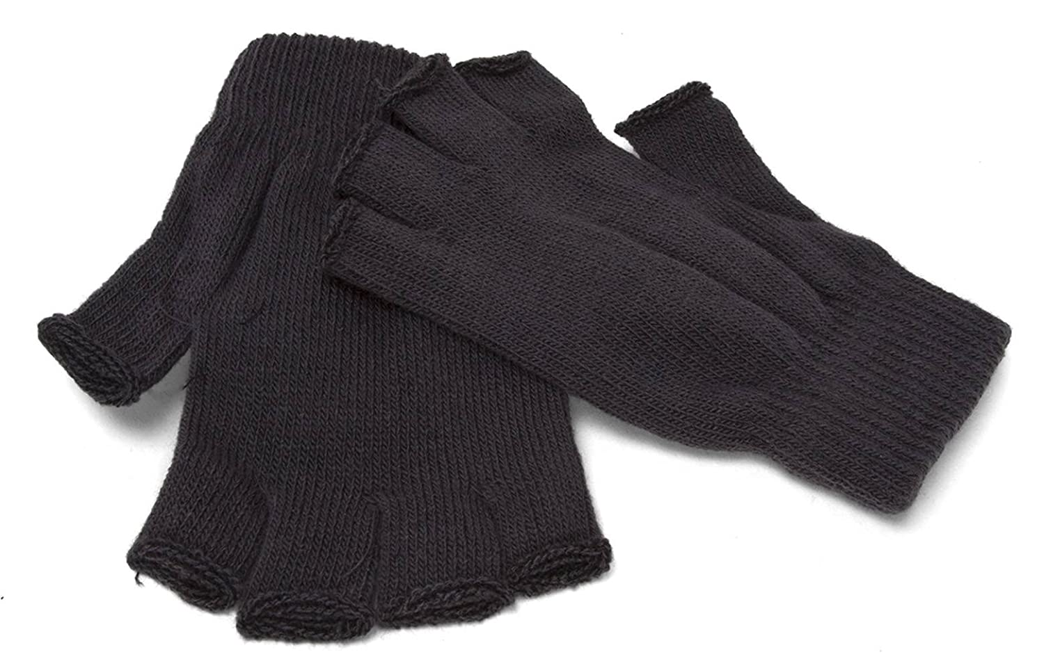 Multi Purpose Fingerless Acrylic Gloves Charcoal