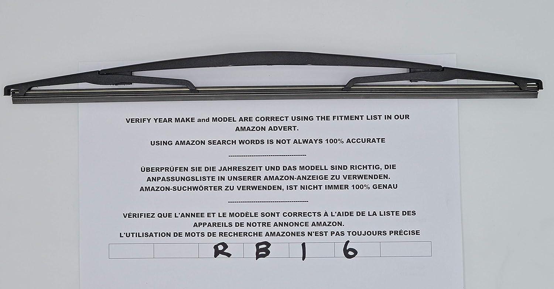 Limpiaparabrisas trasero de ajuste exacto RB16 - imitación: Amazon.es: Coche y moto