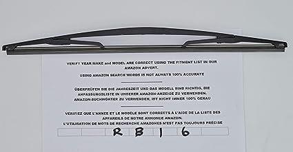 Limpiaparabrisas trasero RB16 de ajuste exacto.