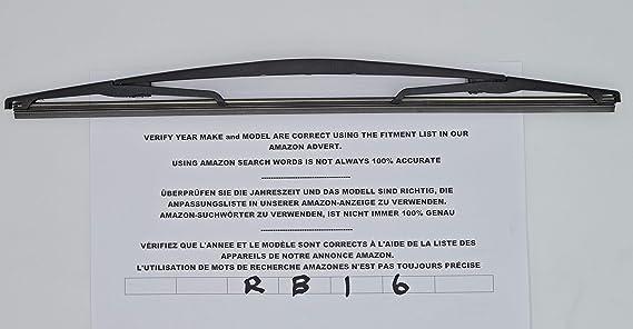 Limpiaparabrisas trasero de ajuste exacto RB16 - citroen: Amazon.es: Coche y moto