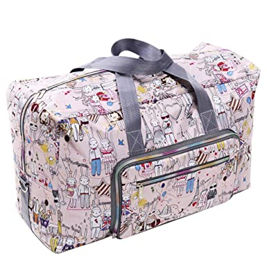 68f05756c9 Pellor Travel Bags Foldable Spacious Traveling Duffel Bag Cute Weekend Light  Weight Carry On Luggage Tote