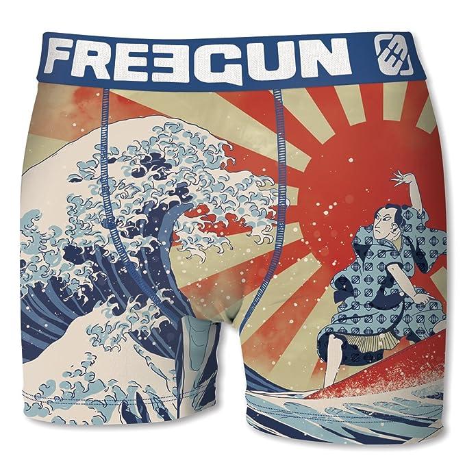 Freegun - Bóxers - para Hombre Vague de Kanagawa XL