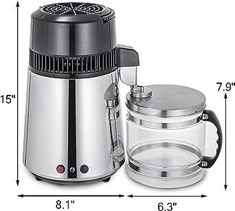 Moracle Destilador de Agua de Acero Inoxidable 750W Destilación de ...