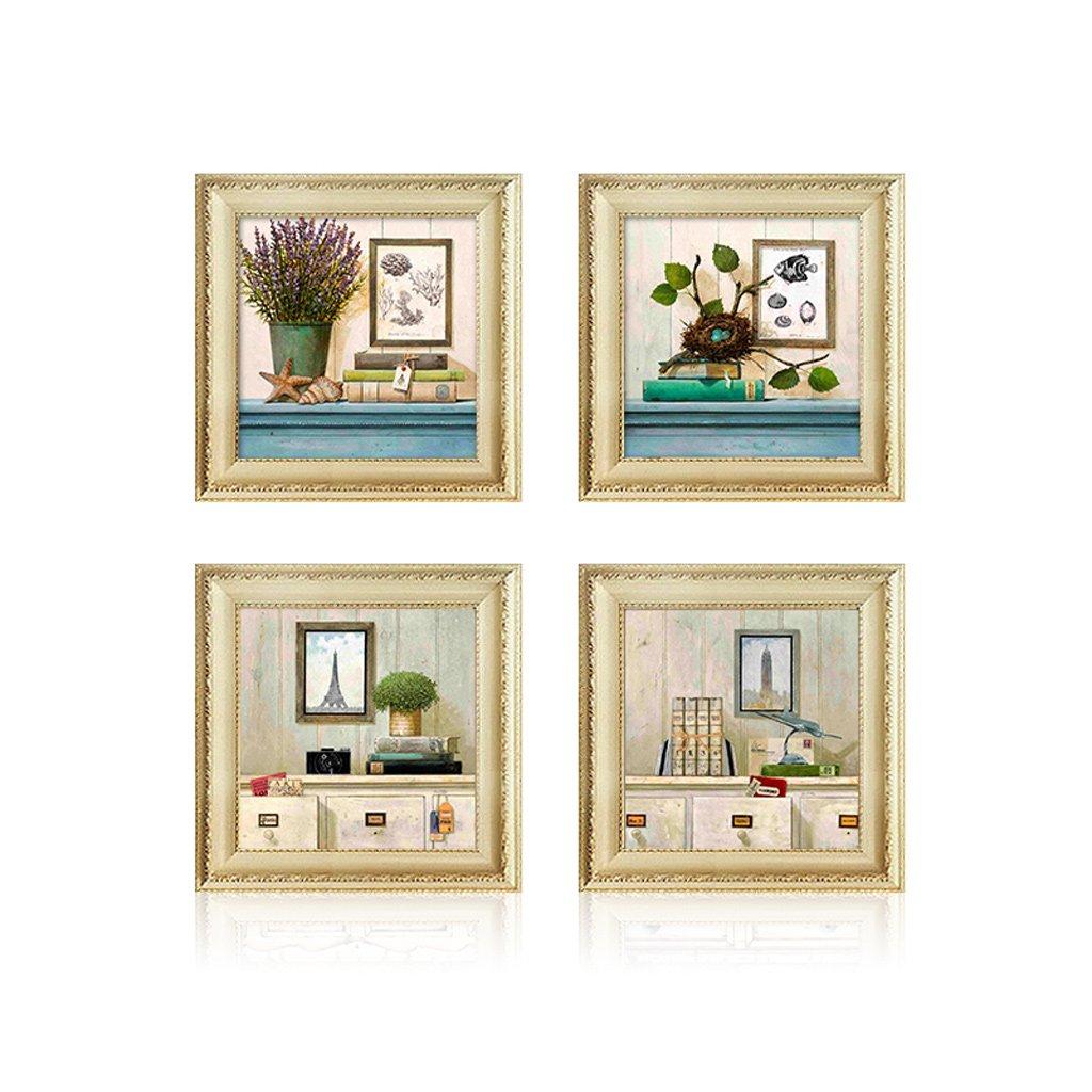 Sala de Estar Pintura Decorativa Mural Porche Pintura Decorativa Simple (Color : A, Tamaño : 40  40)