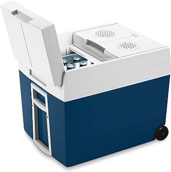 elektrische K/ühlbox mit Rollen passend f/ür eine komplette Getr/änkekiste//Bierkiste Lkw und Steckdose 12 V und 230 V f/ür Auto Mobicool MT48W AC//DC 48 Liter A++