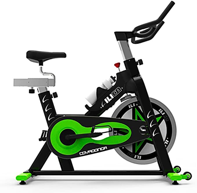 ILICO Bicicleta Indoor Covadonga Negro Verde (Talla: T.U.): Amazon ...
