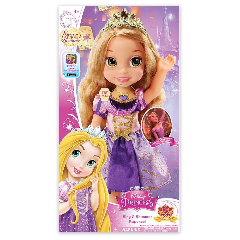 Disney Princess Sing and Shimmer Toddler Doll - Rapunzel by Disney
