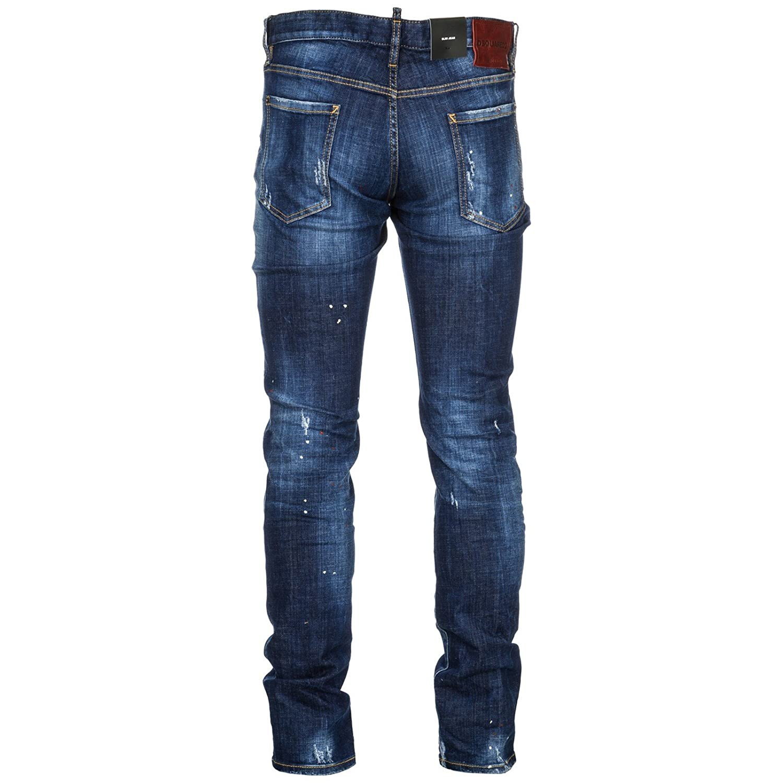 be70deb06be Amazon.com: DSQUARED2 Men's Top Spot Slim Jeans Blue 46 33: Clothing