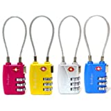 Seawhisper New Soft and Flexible TSA Combination Padlock for Luggage Suitcases and Travel Multicolour