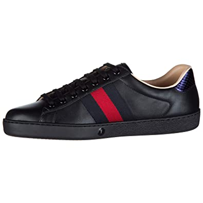 c8c7dd9b3f2 Gucci men s shoes leather trainers sneakers miro soft black UK size 9  429446 A38G0 1284