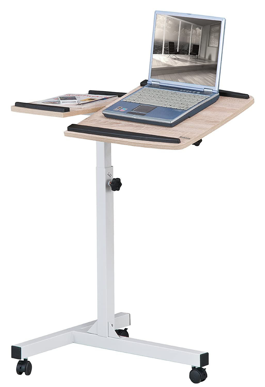 Mesa de ordenador portátil Mesa de proyección roble/blanco óptica madera - LT-001A/1836</p>: Amazon.es: Hogar