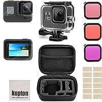 Kupton Accessoire Kit voor GoPro Hero 8 Black met Schokbestendige kleine Behuizing+ Gehard Glazen Schermbeschermer…