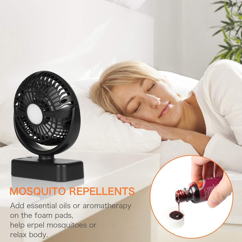 COMLIFE-Ventilateur-de-Camping-avec-Lampe-LED-Ventilateur-Portable-avec miniature 7