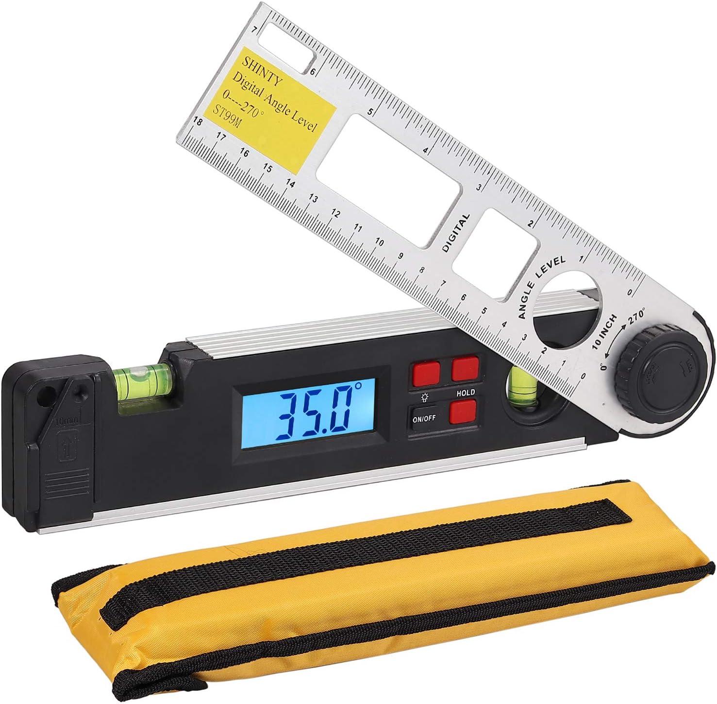 Digital Inclinometer Spirit Level Box Protractor Horizontal Angle Measuring New