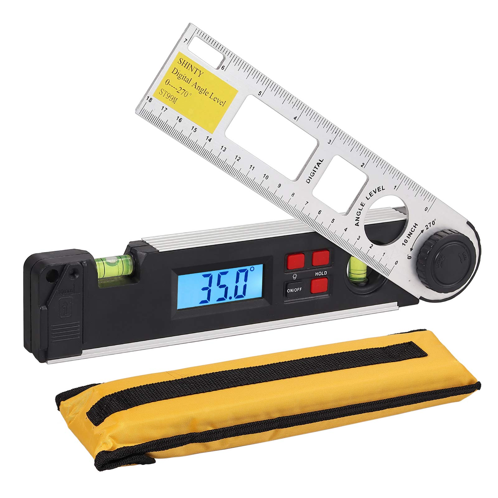 Proster Angle Gauge 0~270°Digital LCD Inclinometer Protractor Spirit Level Angle Finder Gauge Meter with Level Bubble