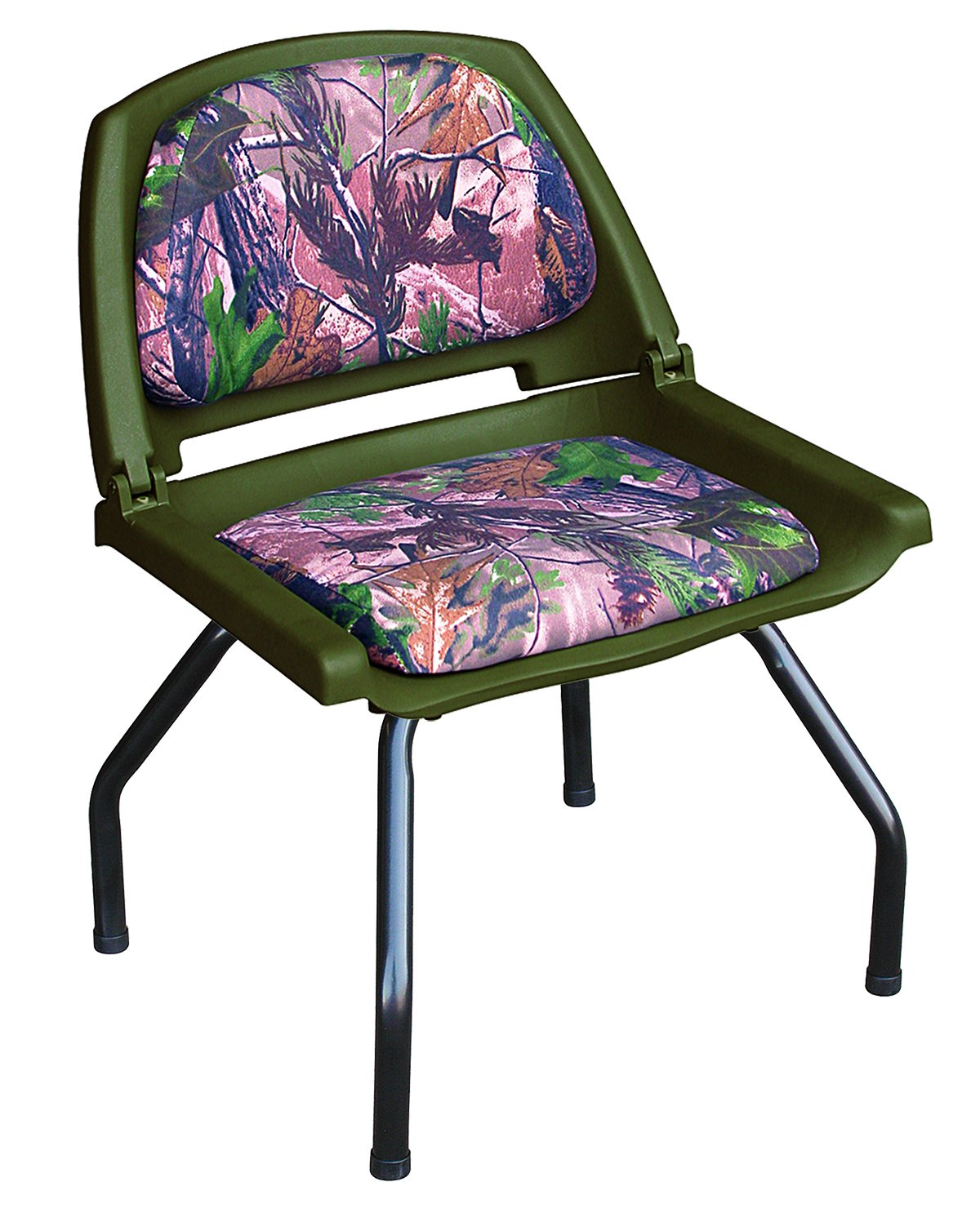Wise Outdoors 8WD302-762 Hunting Blind Seat Combo, with Seat Stand and Swivel, Realtree All Purpose Green Camo