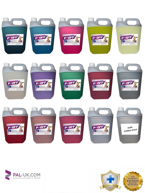 4x 5l P-off Tapis et tentures pour animal domestique Chat Chien d'odeur d'urine et Wee Remover–Lin Fresh–fabriqué en photos Force industrielle
