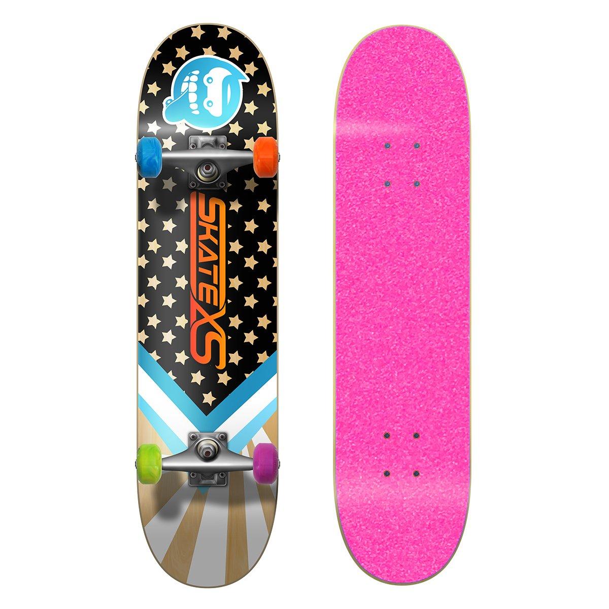 大きい割引 SkateXS 初心者 スターボード ストリート スケートボード B01MYVV1E4 x 7.25 x Multi-Color 8-10) 29 (Ages 8-10)|Pink Grip Tape/ Multi-Color Wheels Pink Grip Tape/ Multi-Color Wheels 7.25 x 29 (Ages 8-10), 南設楽郡:72642271 --- a0267596.xsph.ru
