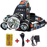 Headlamp,Headlight,Hard Hat Light 20000 Lumens IMPROVED Cree Led Ultra Bright Rechargeable Waterproof Flashlight Head…