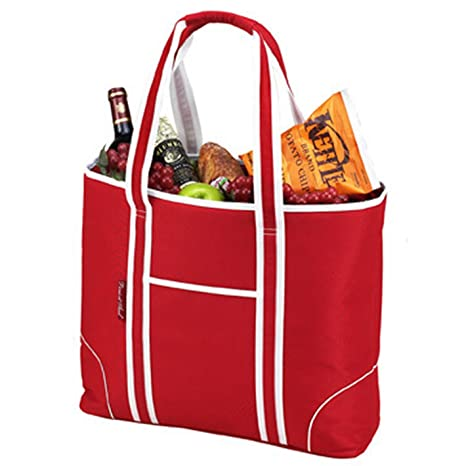 68c2a87cd02b Image Unavailable. Image not available for. Color  Picnic at Ascot Extra Large  Insulated Cooler Bag - 30 Can Tote ...