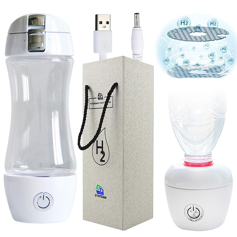 ST Synteam Hydrogen Water Bottle, Nafion(TM) PFSA, Alkaline Water Filter, Portable Ionizer Maker