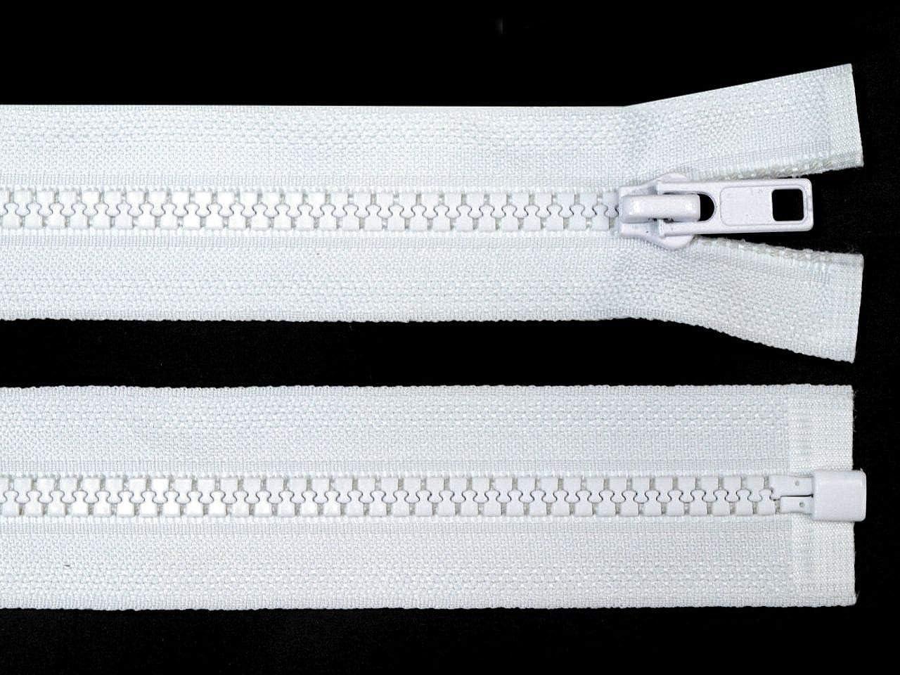 Accesorios de Costura 1pc 101 Blanco de Pl/ástico con Cremallera de 5 mm de extremo Abierto de 70 Cm de la Chaqueta art/ículos de Mercer/ía Bolsos de la Cremallera Cremalleras Vislon de Dos v/ías