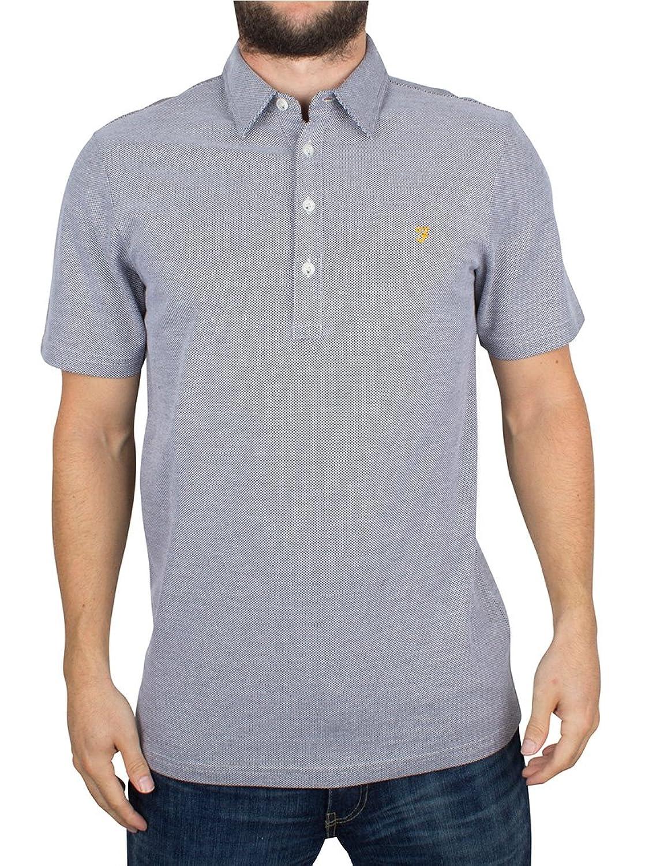 Farah Vintage Herren Sinclair Logo-Polo-Hemd, Weiß