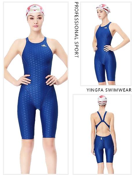 9500fad8338b9 Amazon.com : YingFa One Piece Racing Swimsuit for Girls Kneeskin Technical Swimsuit  Training Swimsuit Girl's Size 10-12 /Speedo Size 30/China Size L, ...