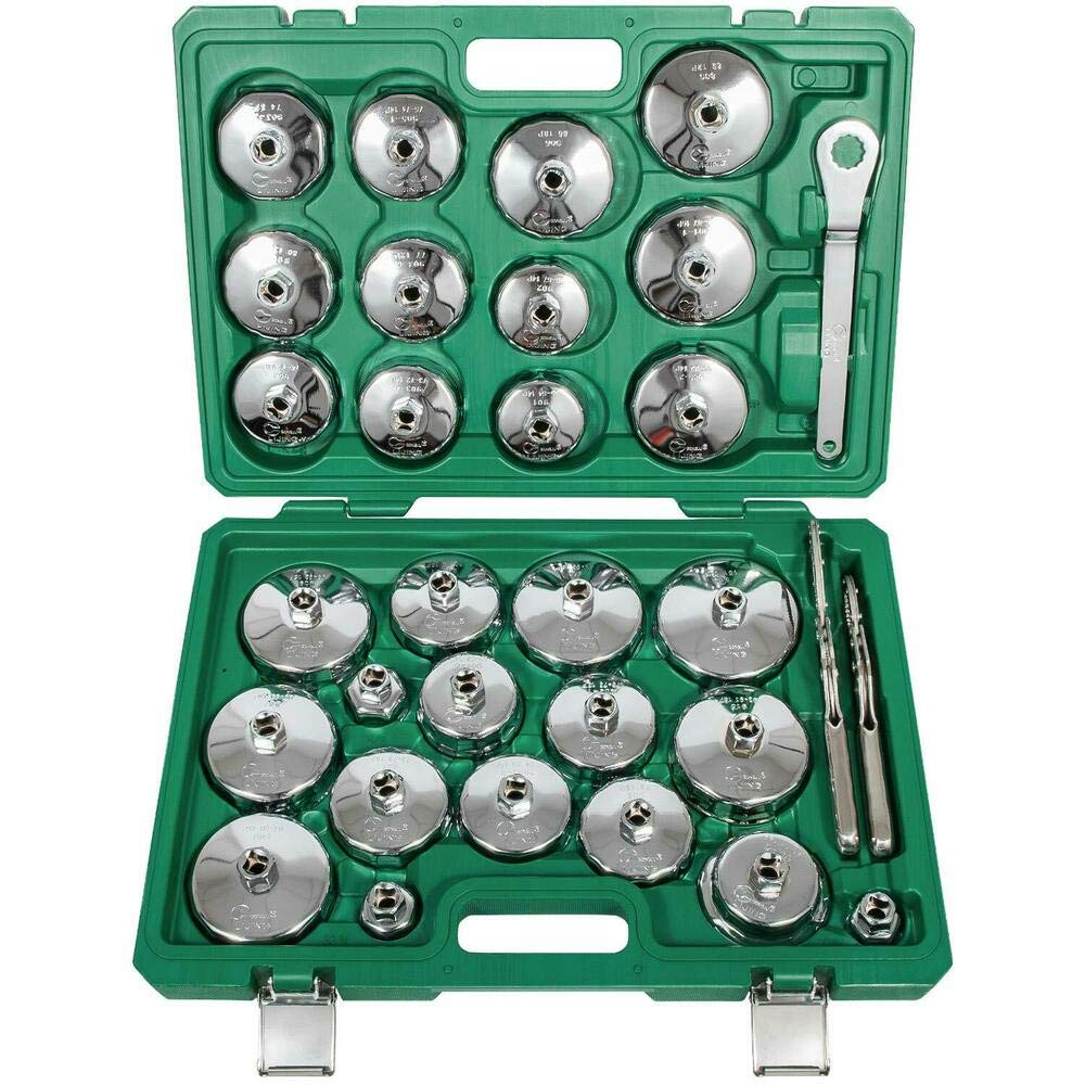 31pcs Steel Auto Oil Filter Wrench Socket Cup Type Cap Removal Tools Set R33523