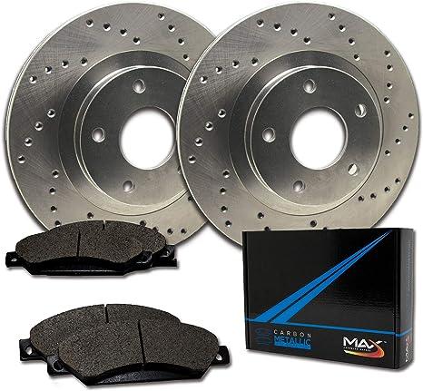 Max Brakes Front /& Rear Premium XD Rotors and Metallic Pads Brake Kit TA039323-4