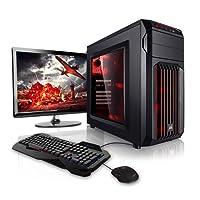 """Megaport Super Méga Pack - Unité Centrale pc Gamer Complet Intel Core i7-8700 • Ecran LED 24"""" • Claviers de Jeu et Souris • GeForce GTX1060 6Go • 16Go • Win 10 Ordinateur de Bureau pc Gaming"""