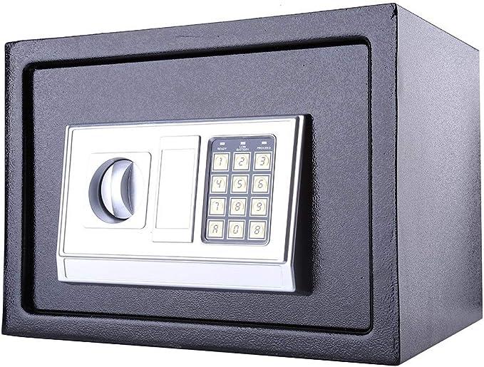 Joyas GOTOTOP 16L Caja Fuerte Digital Peque/ña para casa,para Montaje en Pared o Suelo,para Proteja Dinero Efectivo Llaves,Color Negro Monedas