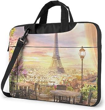 Bolso de Hombro para computadora portátil Estuche para computadora portátil, Funda para computadora de la Torre Eiffel de París, Bolsa Protectora de maletín de Negocios: Amazon.es: Electrónica