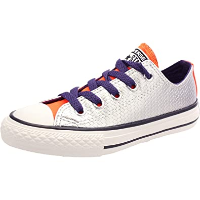 851b7fe0bcc3 Converse Chuck Taylor All Star Shine Silver Synthetic 4 UK  Amazon.co.uk   Shoes   Bags