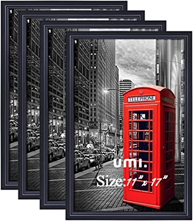 Umi Essentials 11x17 Picture Photo Frames Black Poster Frame Wall Mounting 4 Pack Amazon Co Uk Kitchen Home
