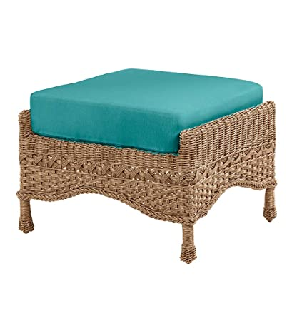 Charmant Prospect Hill Outdoor Patio Ottoman Footrest Furniture   Includes Cushion    All Weather Woven Wicker With