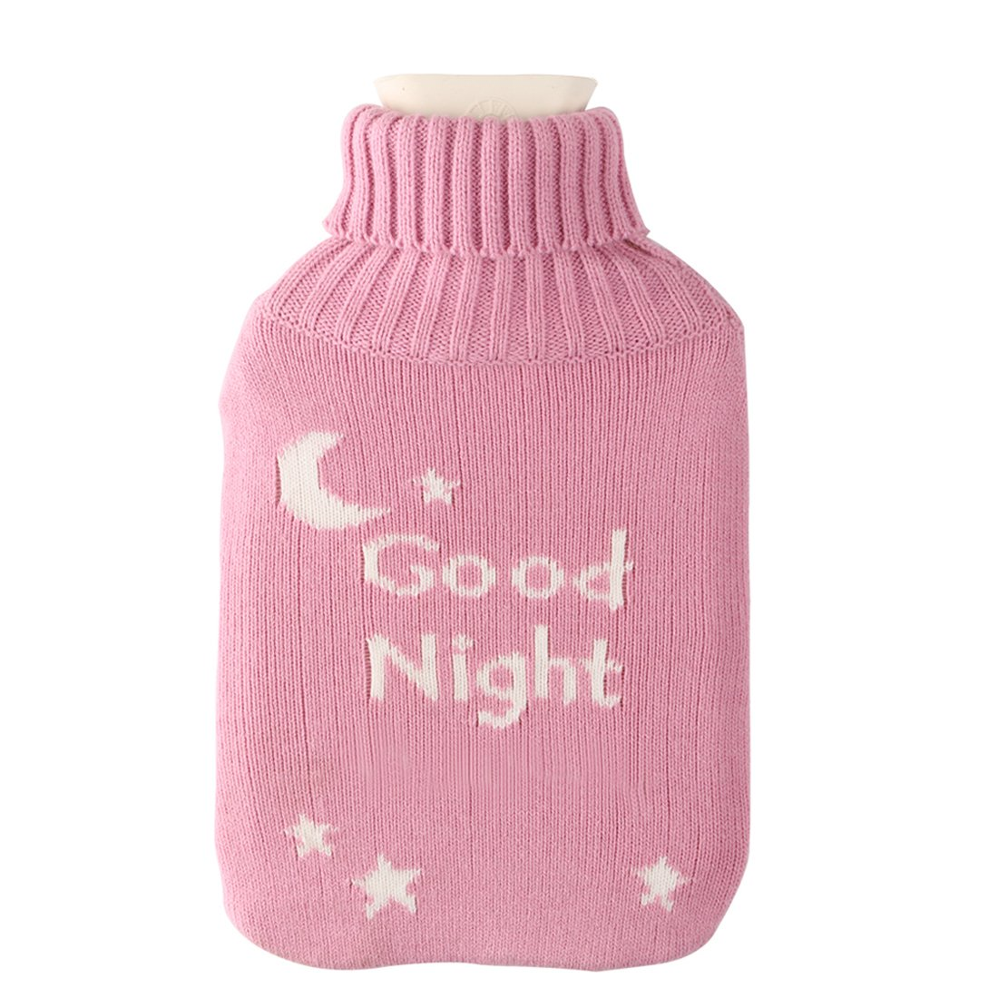 Amazon.com: Large 2 Liter Soft Cute Hot Water Bottle Knit Cover ...