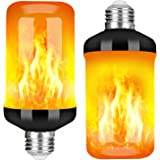Y- STOP LED Flame Effect Fire Light Bulb, Upgraded 4 Modes Flickering Fire Christmas Decorations Lights, E26 Base Flame Bulb