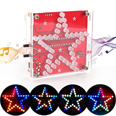 ICStation Star Soldering Practice Kit, DIY Electronic Assemble Project, LED Flashing Beep Music DC 5V USB: Toys & Games
